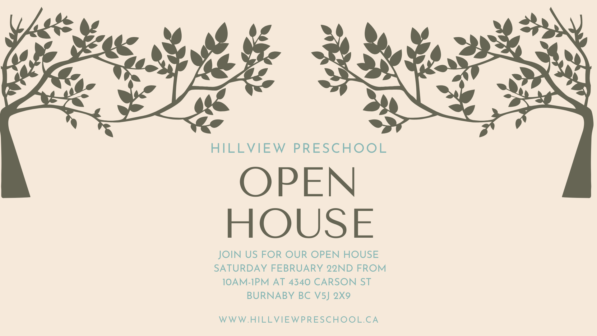 Hillview Open House Template